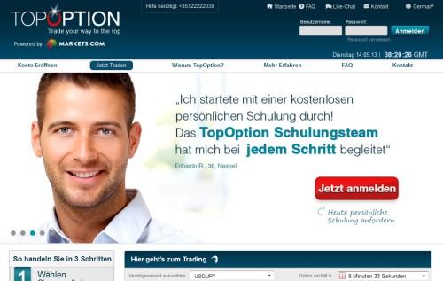 Broker TopOption bietet kostenlose Schulungen