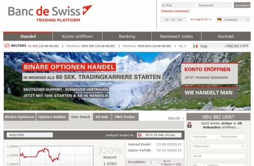 Der Broker Banc de Swiss