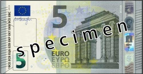 Neuer 5 Euro Schein vorne
