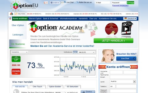 Broker iOption ist ab sofort reguliert
