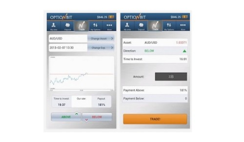 Mobiler Handel mit Broker OptionBit