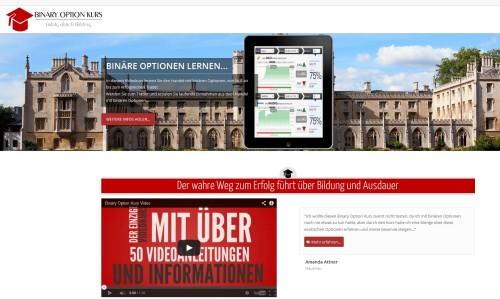 Seite vom Onlinekurs BinaryOptionKurs