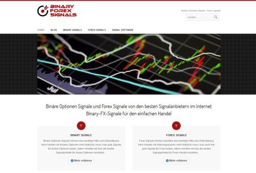 Seite über Binary und Forex Signale