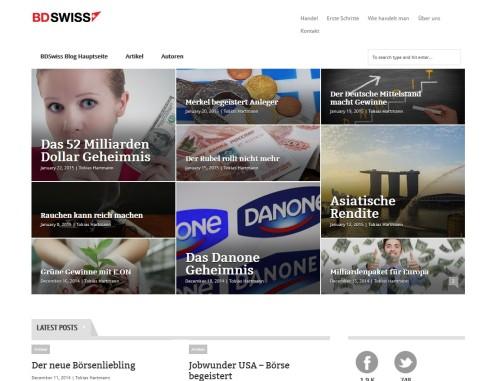 BDSwiss Blog als Hilfe und Info