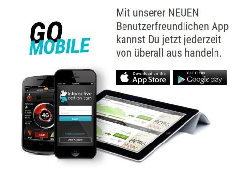 Interactiveoption - binäre Optionen mobil handeln