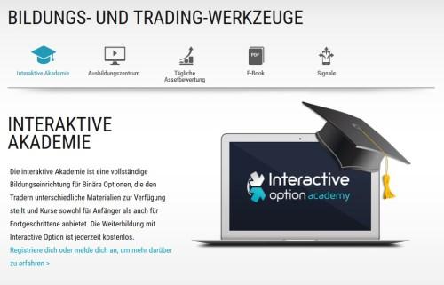 Interactiveoption - den Handel mit binären Optionen lernen