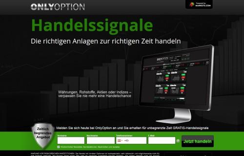 OnlyOption bietet Signale für binäre Optionen