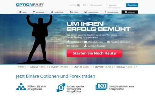 Handel mit binären Optionen und Forex Währungspaaren bei OptionFair
