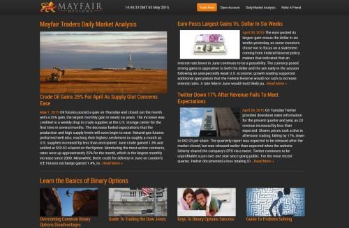 Handelsinfos und Marktanalysen bei MayfairOptions