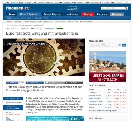 Die Seite Finanzen-net für weitere Wirtschaftsnachrichten