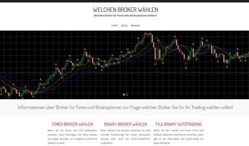 Seite mit Infos zur Wahl eines Brokers für Trading