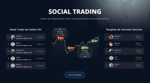 Social Trading mit Binäre Optionen bei PocketOption
