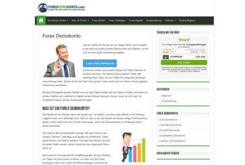 Informationen über Forex-Demokonto und Forex-Trading